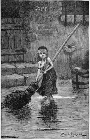 ניגון חוזר. קוזט|צילום: מתוך הספר שראה אור בשנת 1862