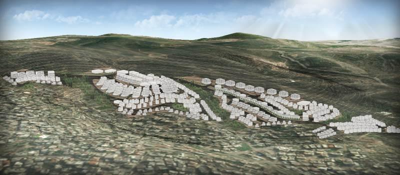 מימוש מספר נרחב של יחידות דיור. הדמיה של התוכנית בתמרה| צילום: רונאל- לזר אדריכלים