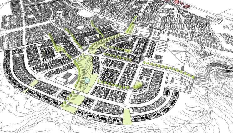 תכנית לשכונת מגורים בקצרין |  קרדיט: קורין אדריכלים