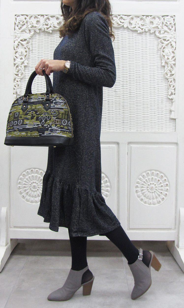 שמלת וולן מנצנת של מקימי | צילום אופנת מקימי
