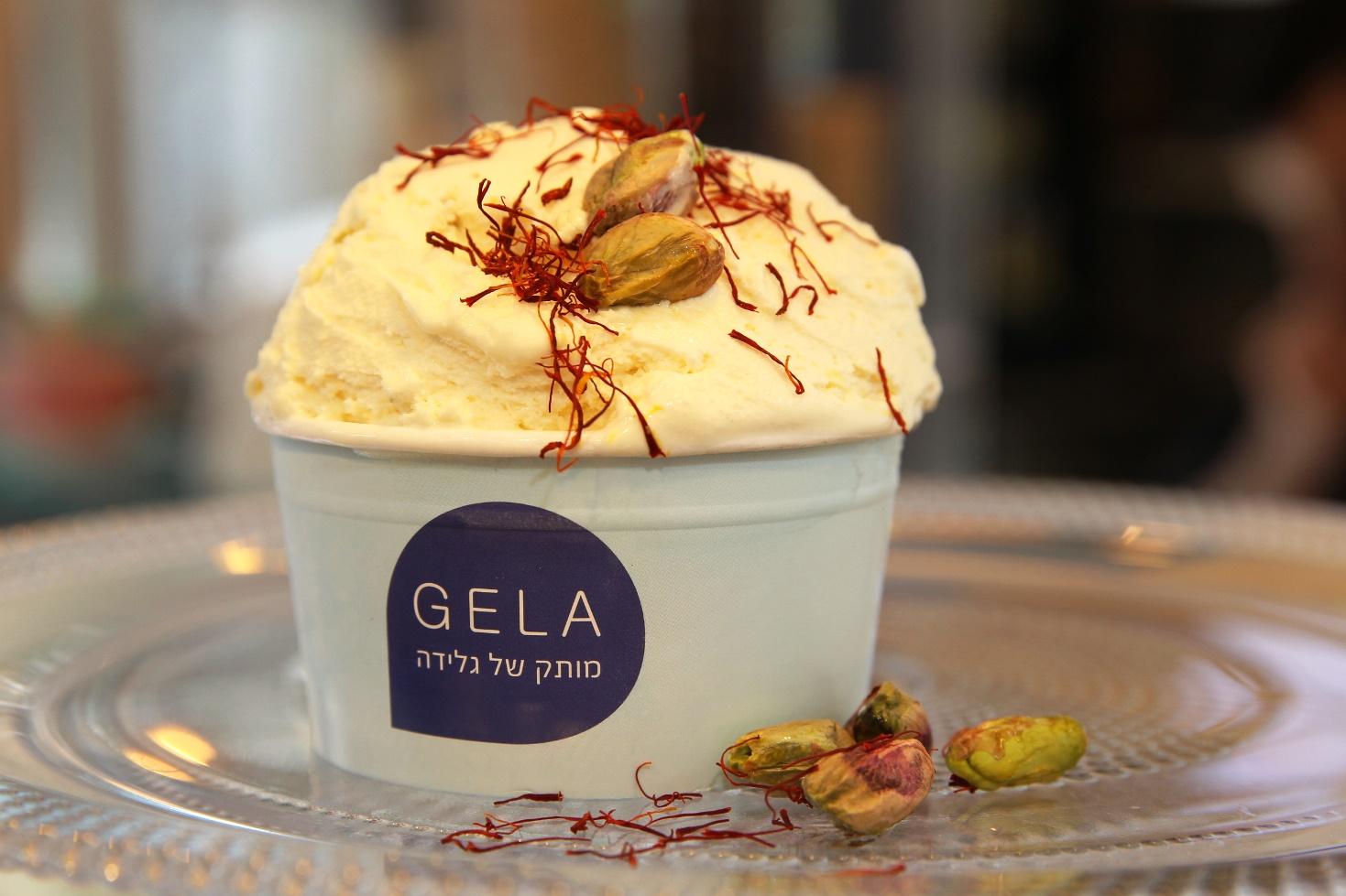 גלידה הודית טבעונית של רשת ג'לה