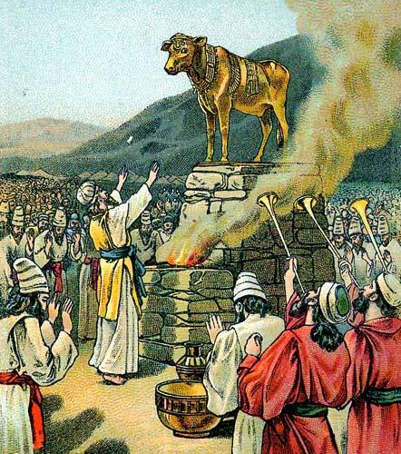 אהרון ועגל הזהב | צילום: ויקיפדיה