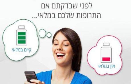 אפליקציה: בדיקה לפני הגעה לבית מרקחת