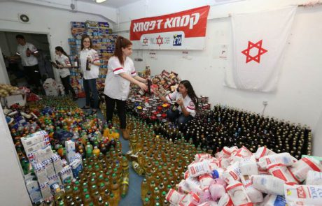 """מתנדבי הנוער של מד""""א רמת גן אספו וארזו מעל ל-500 חבילות מזון לנזקקים"""